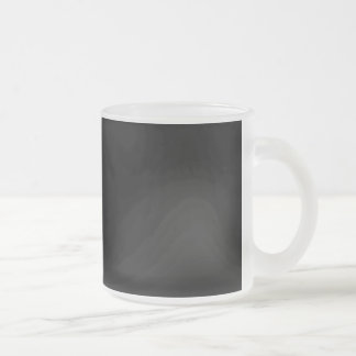 Solid Black Background Web Color 000000 Frosted Glass Coffee Mug