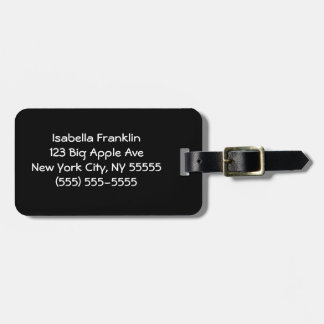 Solid Black Bag Tag