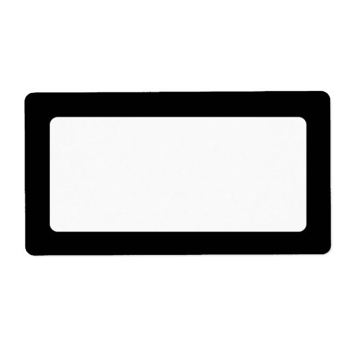 Solid black border blank shipping labels