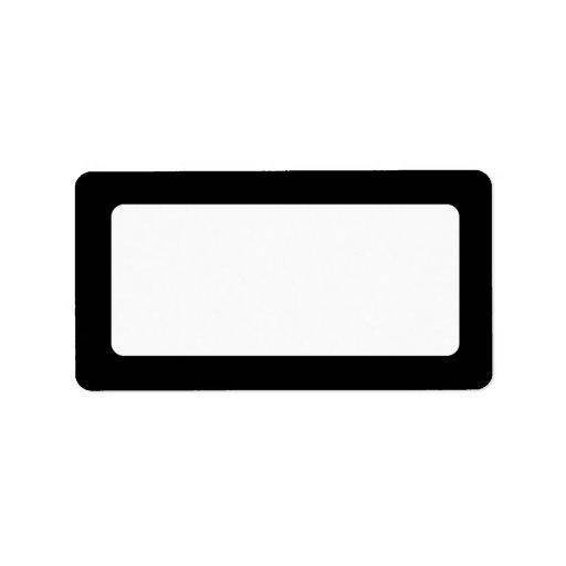 Solid black border blank labels