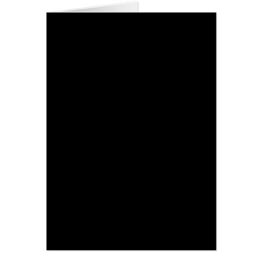 Solid Black Card