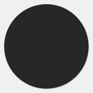 Solid Black Classic Round Sticker