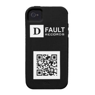 Solid Black D-Fault Records QR iPhone 4 Tough Case