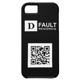 Solid Black D-Fault Records QR iPhone 5 Tough Case