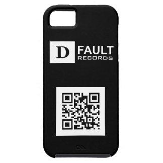 Solid Black D-Fault Records QR iPhone 5 Tough Case