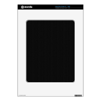 Solid Black Electronic Skins Skin For iPad