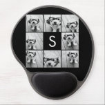 "Solid Black Photo Collage Custom Monogram Gel Mouse Pad<br><div class=""desc"">You can use Instagram photos for this design. Use 8 square photos to create a unique and personal gift. Or you can keep the hipster puppy and make a trendy keepsake. If you need to adjust the pictures,  click on the customize tool to make changes.</div>"