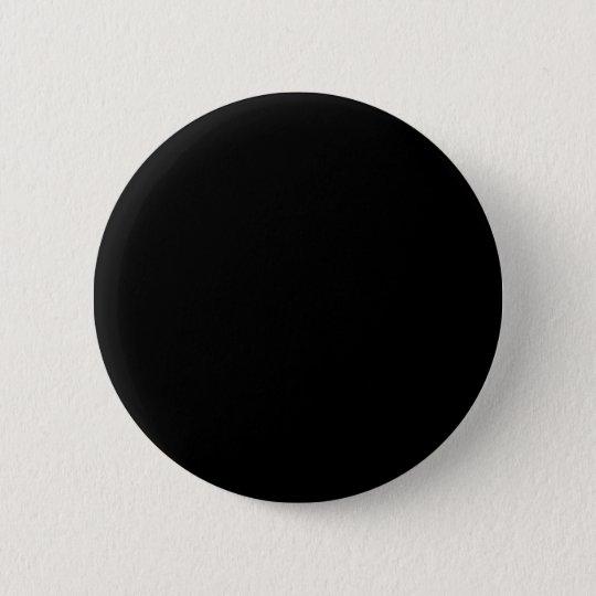 Solid Black Pinback Button