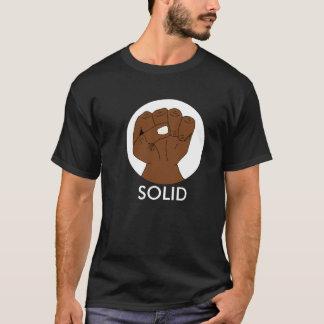 Solid Black Pride Fist on Dark T-Shirt