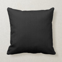 Solid Black Throw Pillows
