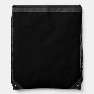 SOLID BLACK (total color coloration, dude!) ~ Drawstring Backpack