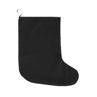 SOLID BLACK (total color coloration, dude!) ~ Large Christmas Stocking