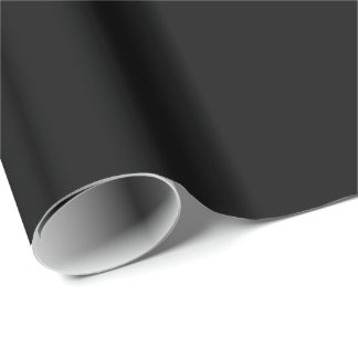 SOLID BLACK (total color coloration, dude!) ~ Wrapping Paper