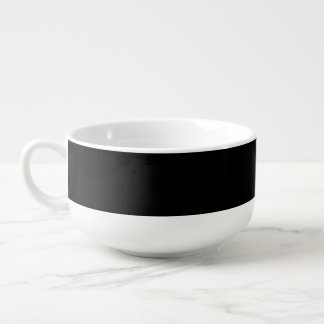 SOLID BLACK (total color coloration, dude!) ~ Soup Bowl With Handle
