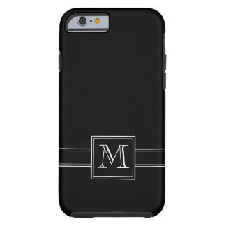 Solid Black with Monogram Tough iPhone 6 Case