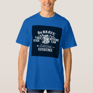 Solid blue expedition tshirt