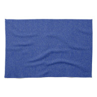 Solid Blue Glimmer Hand Towels