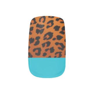 Solid Blue/Leopard Manicure Nails Minx® Nail Art