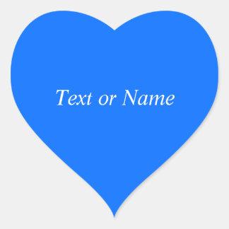 Solid BLUE Heart Sticker