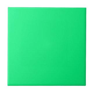 Solid Bright Green Ceramic Tile