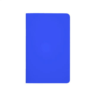 Solid Bright Neon Blue Pocket Journal