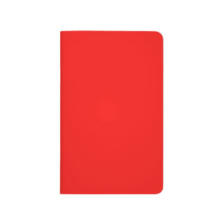 Solid Bright Neon Red Pocket Journal