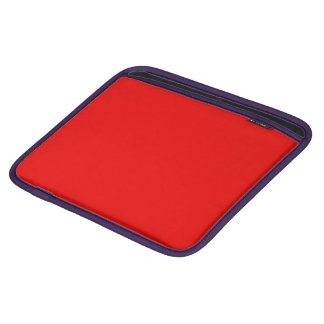 Solid Bright Rally Red color Sleeve For iPads