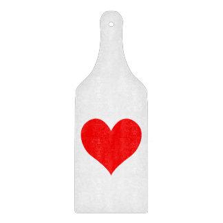 Solid Bright Red Cute Heart Cutting Board