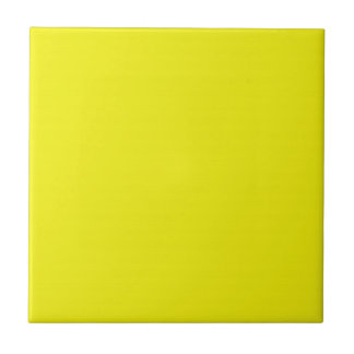 Solid Bright Yellow Ceramic Tile