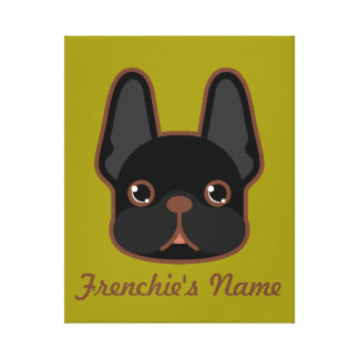 Solid Brindle Frenchie Custom Design Canvas Print