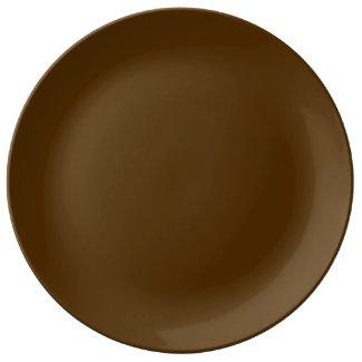Solid Brown Dinner Plate