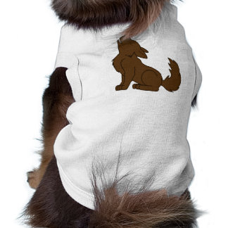 Solid Brown Wolf Pup Howling Tee