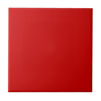 Solid Candy Apple Red Ceramic Tile squares #cc0000