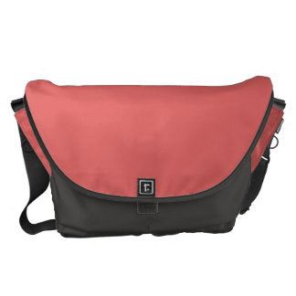 Solid Cayenne Red Courier Bag