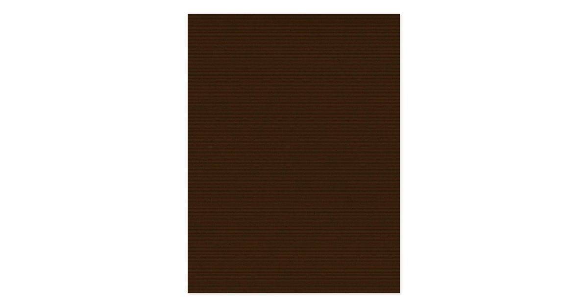 Solid Chocolate Brown Background Template Texture Postcard
