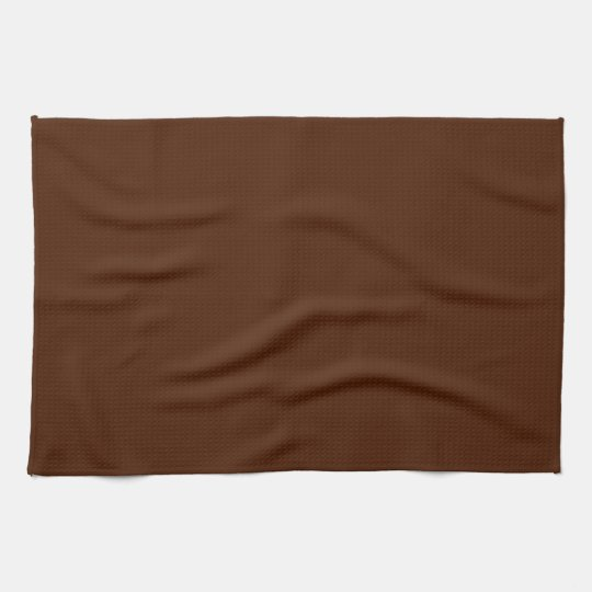 Solid Chocolate Brown Kitchen Towel