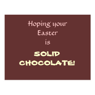 Solid Chocolate Easter Postcard