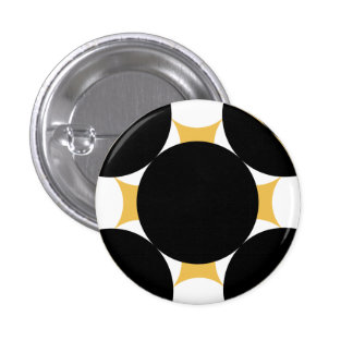 Solid Circle Cross 1 Inch Round Button