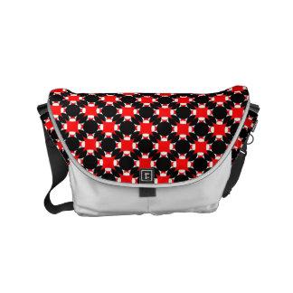 Solid Circle Cross Small Messenger Bag
