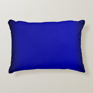 solid cobalt blue decorative pillow