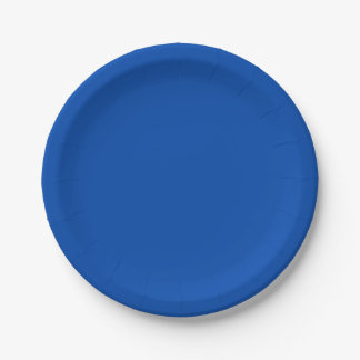 Solid Cobalt Blue 7 Inch Paper Plate