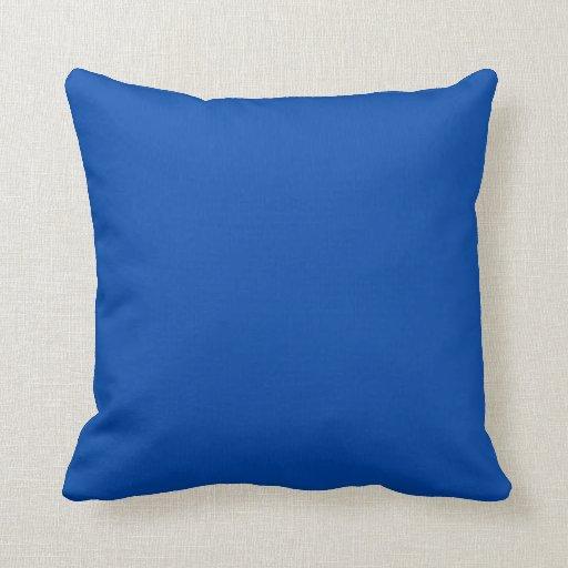 Cerulean Blue Throw Pillows : Solid Cobalt Blue Throw Pillows Zazzle