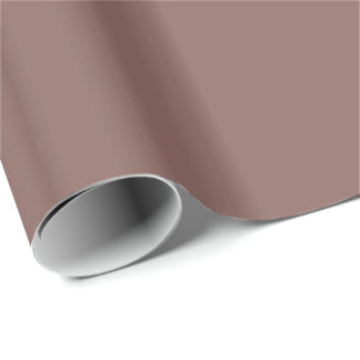 Solid Cognac Brown Gift Wrapping Paper