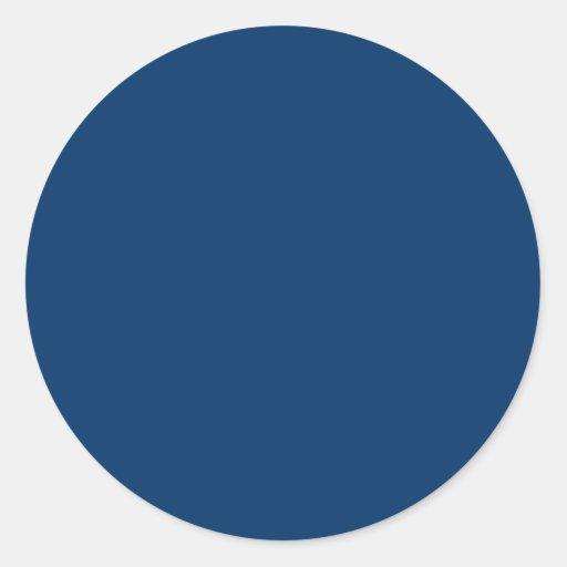 Solid Color 003366 Dark Blue Background Template Round Sticker