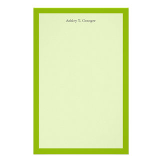 Solid Color: Apple Green Stationery