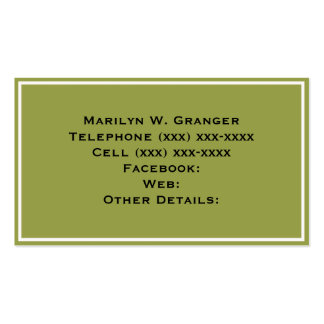 Solid Color: Avocado Green Business Card