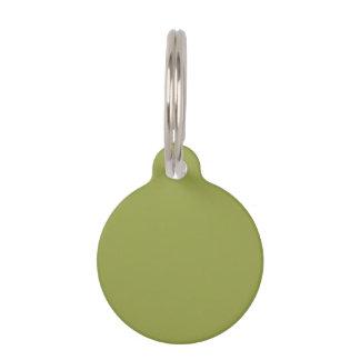 Solid Color: Avocado Green Pet Name Tag