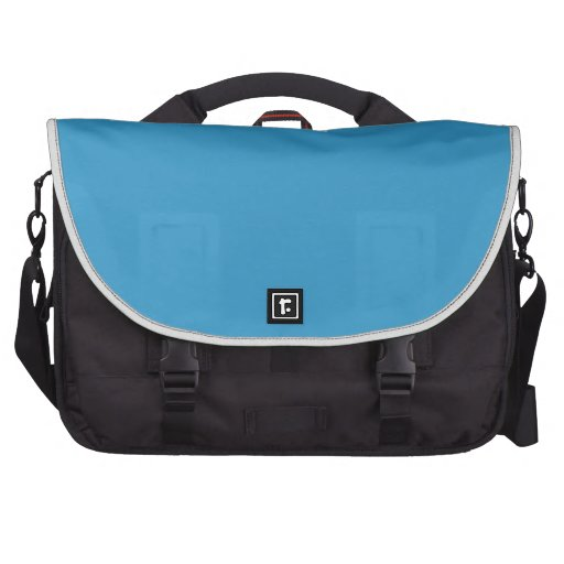 Solid Color Background Blue 3399CC Template Commuter Bag