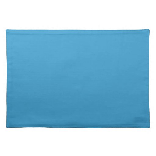 Solid Color Background Blue 3399CC Template Placemat