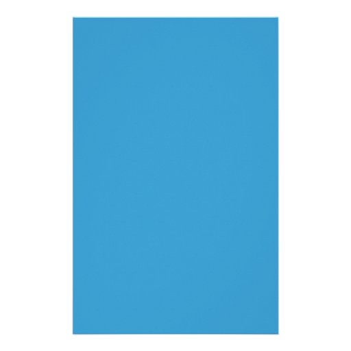 Solid Color Background Blue 3399CC Template Stationery